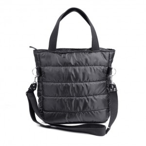 torba  typu shopper black-  na skos